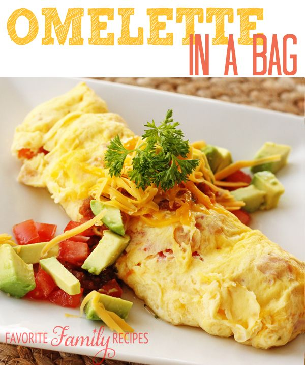 Whether Camping At A Reunion Or Home Wanting To Switch Things Up You Just Can Lose With An Omelette In Bag Virtually No Clean