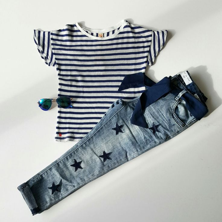 mixing stars & stripes! toffe stoere girls look.