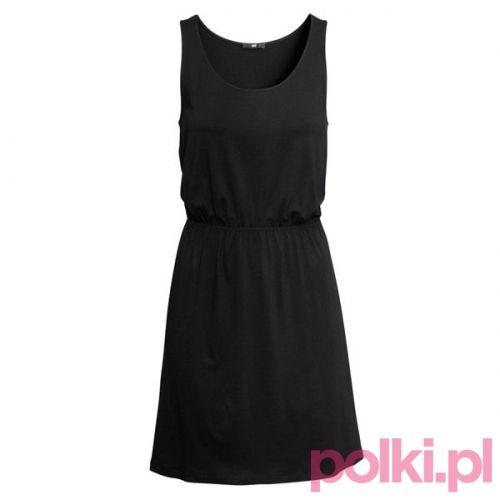 Czarna sukienka, H&M #polkipl