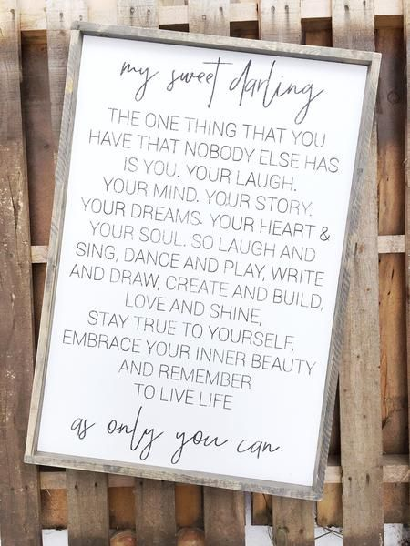 My Sweet Darling | Qoutes | Pinterest | Home Decor, Nursery