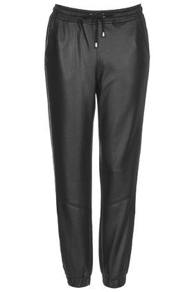 #topshop Leather-Look Joggers