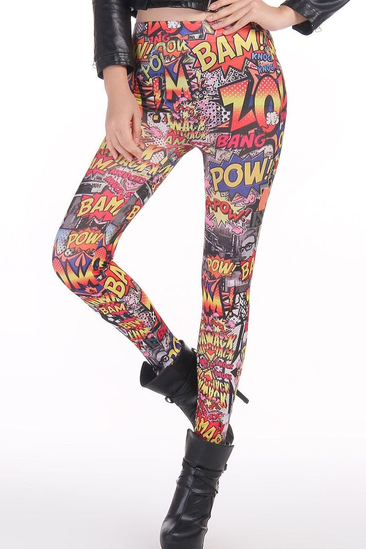 Leggings Hot Up Comic Pas Cher www.modebuy.com @Modebuy #Modebuy #CommeMontre #me #sexy #followall