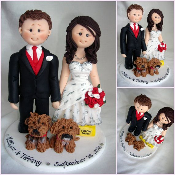 Tall Groom Short Bride Wedding Cake Topper