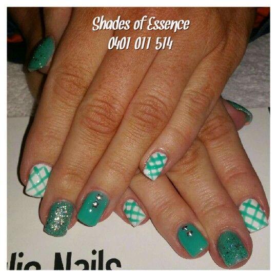 Aqua nails, nailart