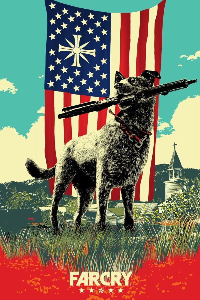 Official Poster Created For The Launch Of Far Cry 5 By Chris Thornley Videogametester Gaming Wallpapers Video Game Posters Game Art