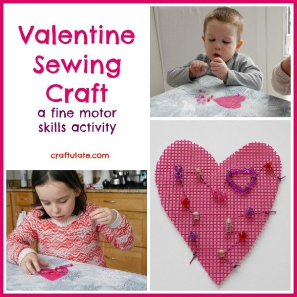 Valentine Sewing Craft from Craftulate