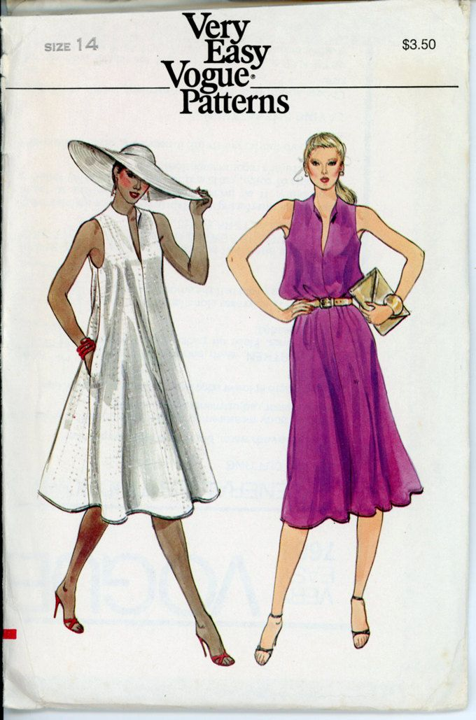 Vogue dress patterns summer 2018