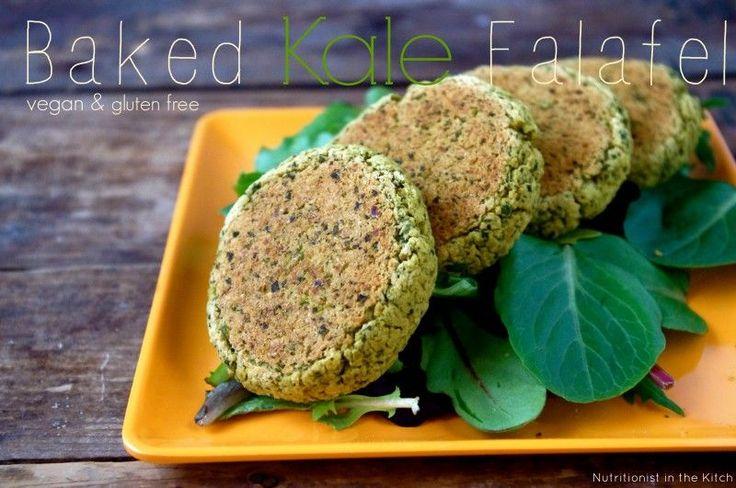 Delicious and Simple Baked Kale Falafel (Vegan/Gluten Free) via nutritionistinthekitch.com