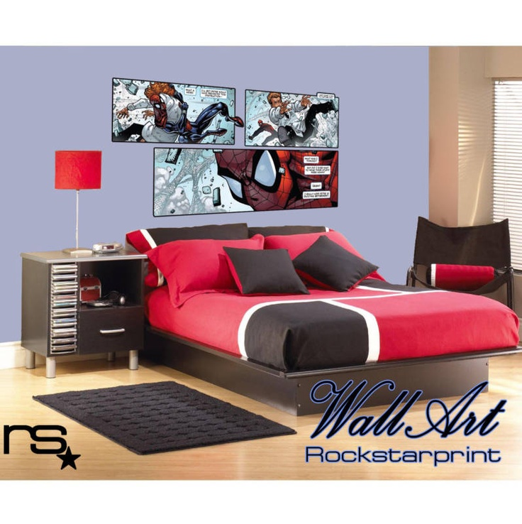 Large comic book style theme wall art sticker decal ebay for Comic book bedroom ideas