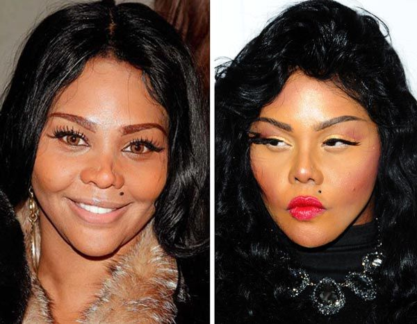 Lil Kim Nose Job Plastic Surgery Before and After Photos...