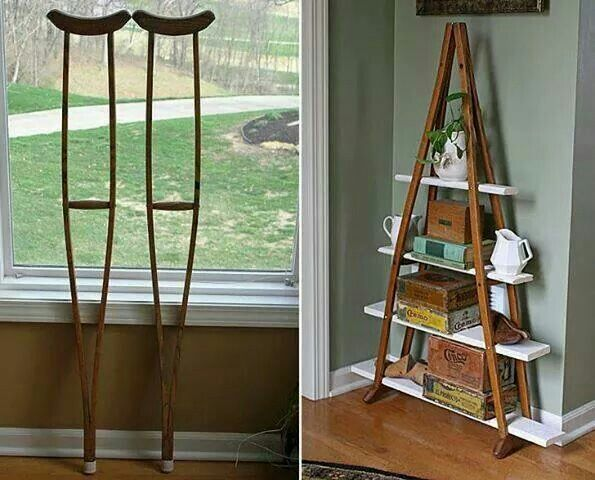 Old crutches,  repurpose item of the day!