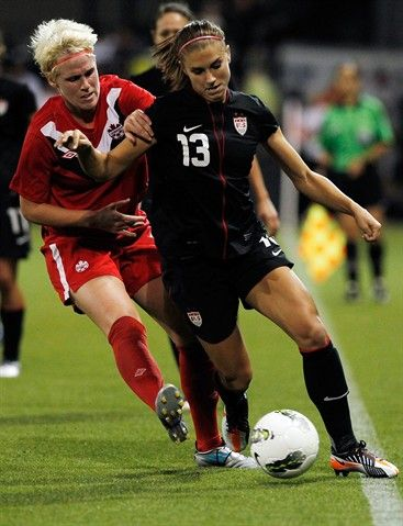 Alex Morgan, Soccer.  This is what athletes look like.  We go through tough injures just like any other sport.  We always try our hardest and work to prove ourselves. This isn't a nice sport. You have to love it. And i do and always will. <3