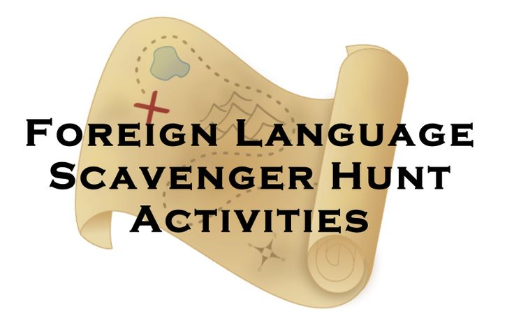 Foreign Language Scavenger Hunt Activities for Vocabulary or Verb Forms.