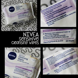 MichelaIsMyName: NIVEA Sensitive Cleansing Wipes REVIEW