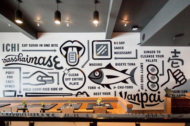 Erik Marinovich ICHI Mural #wall mural #graphic design http://feedly.com/e/L8Almica