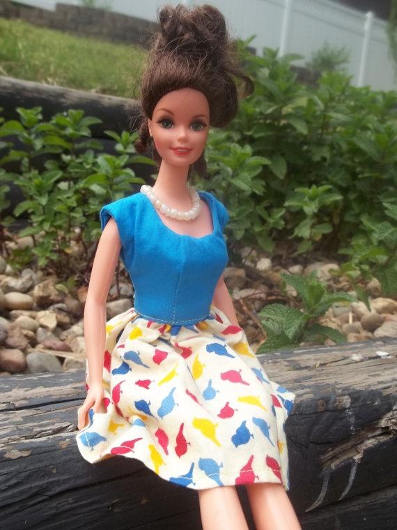 Barbie Clothes  Barbie Dress  Vintage by BarbieBoutiqueBasics