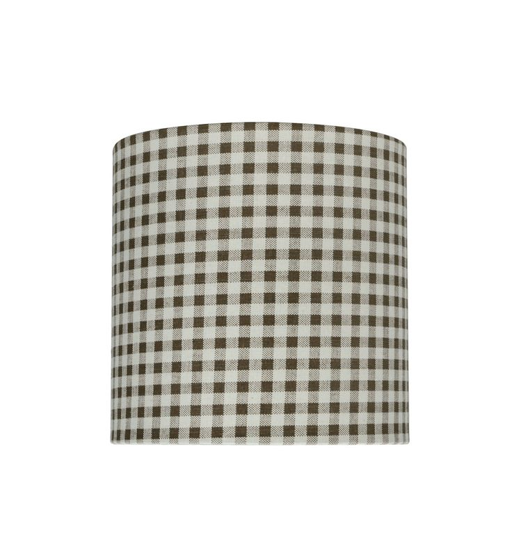 """# 31057 Transitional Drum (Cylinder) Shaped Spider Construction Lamp Shade in Brown, 8"""" wide (8"""" x 8"""" x 8"""")"""