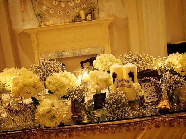 メインテーブル 装花 装飾