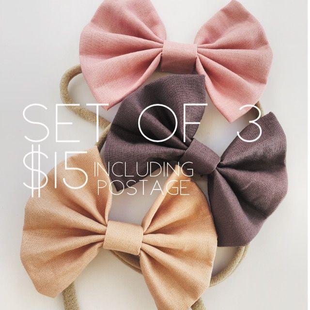 Set of 3 Bow Headbands | rose+dot co