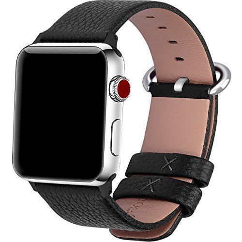 For Apple Watch Bands 38mm Leather Replacement Band Strap Sport  Black #Bad