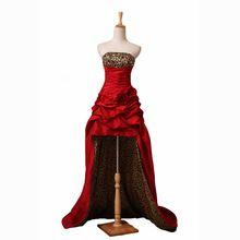 Роскошные бисером сексуальное длинные платья выпускного вечера выпускные платья 2015 новые поступления без бретелек зерна леопарда низкая ну вечеринку платья SD070(China (Mainland))