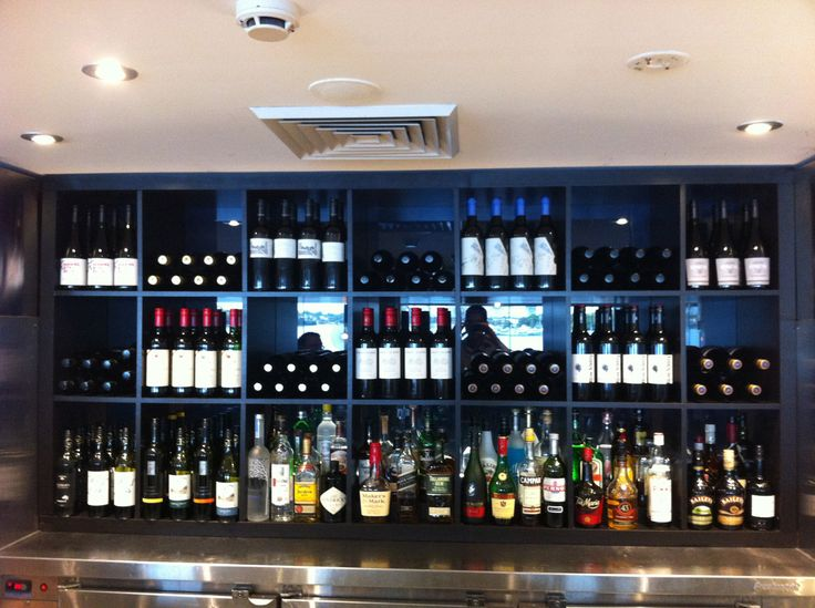 Materials: EXPEDIT Description: We Decided To Remodel Our Back Bar Display  And Wanted Shelving That Would Display Our Red Wine Selection And Also F