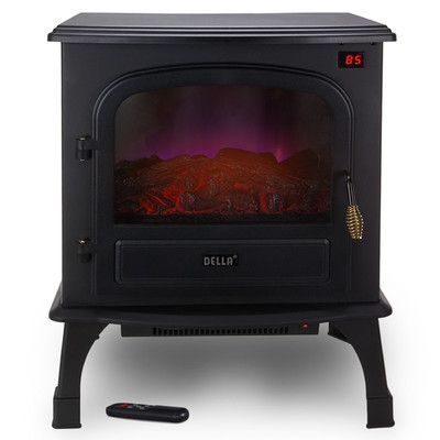 Della 1500 Watt Stove Heater Portable Electric Fireplace Freestanding