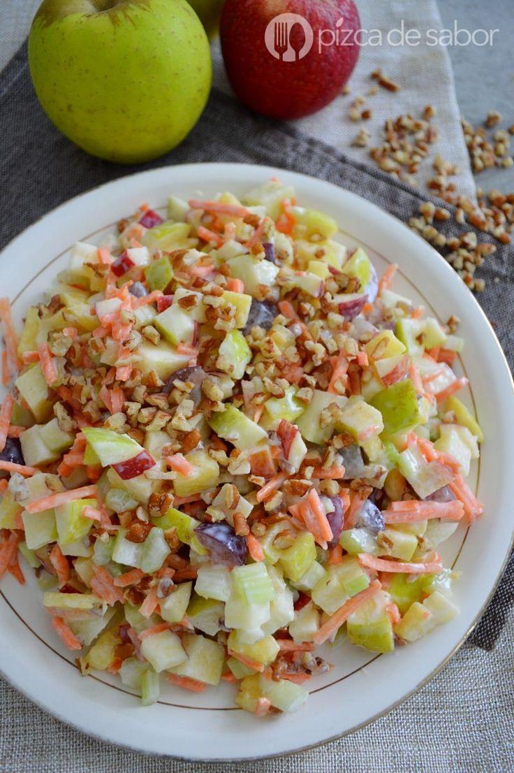 Ensalada de manzana saludable www.pizcadesabor.com