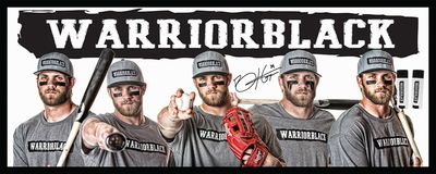 "Bryce Harper 12"" x 30"" Poster with 2 Warriorblack Eye Black Sticks-Black"