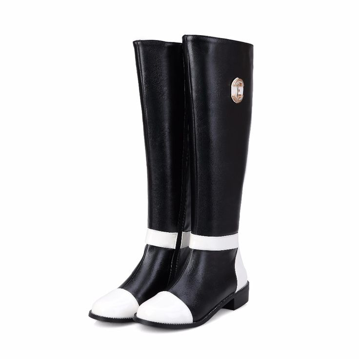 >> Click to Buy << Women Winter Short Plush Flat Knee High Boots Thick Warm Comfortable Casual Leather Big Size 40 41 42 43  Lady Snow Boots 1111 #Affiliate