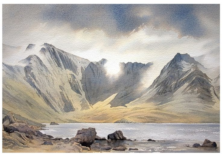 Landscape Watercolour Paintings of Snowdonia, North Wales