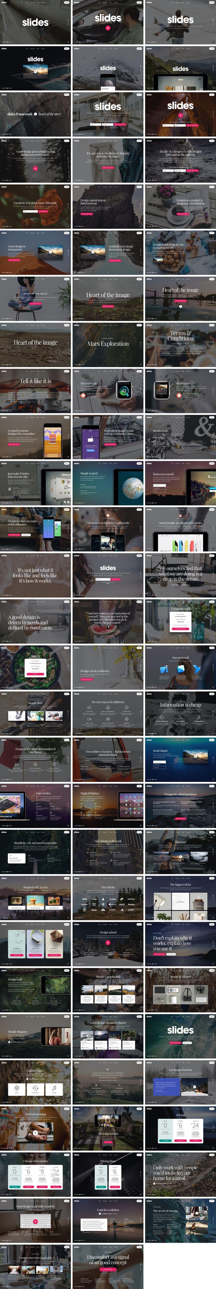 A Huge pack of design resources for Photoshop & Sketch. Download for free: http://designmodo.com/slides/resources/