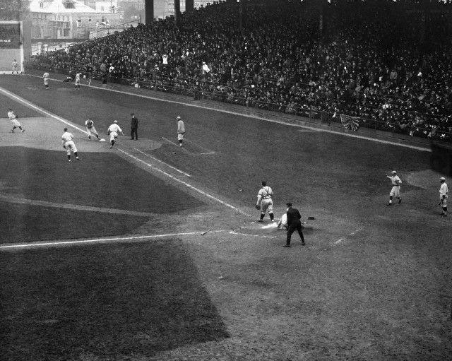 1920 World Series Zach Wheat Scoring In World Series Game
