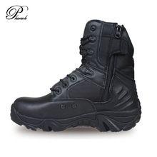 Homens marca profissional exército bota tática botas homens de alta qualidade sapatos casuais homem genuíno sola de borracha de couro deslizamento(China (Mainland))