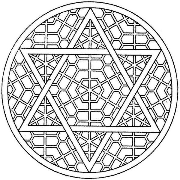 Star of david coloring pages getcoloringpagescom sketch for Star of david coloring page