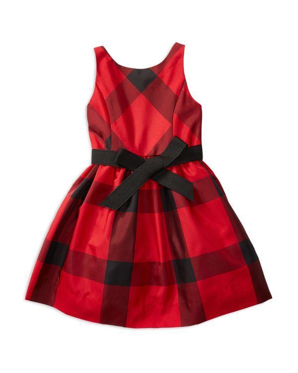 Ralph Lauren Childrenswear Girls' Plaid Taffeta Dress - Sizes 2-6X