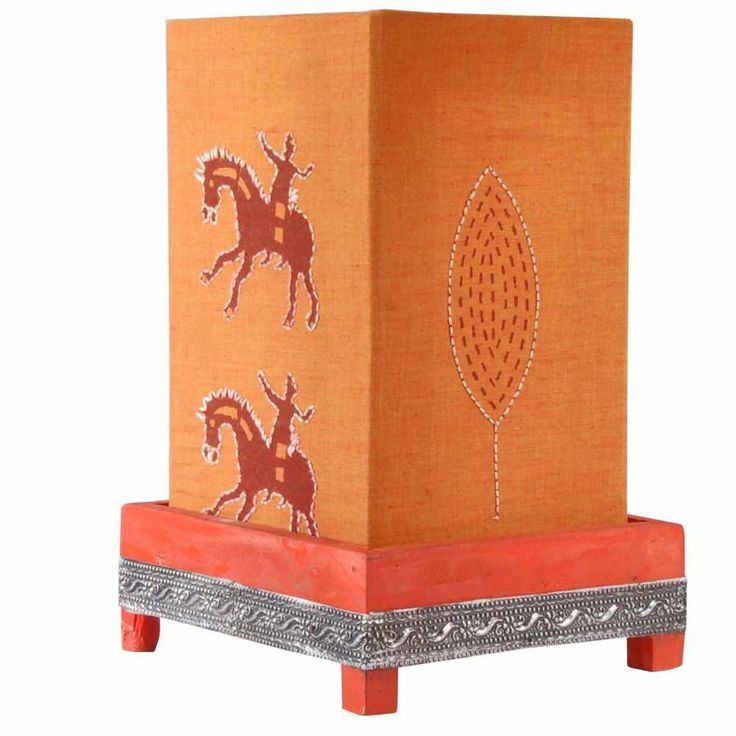 Pithora Lamp - Orange