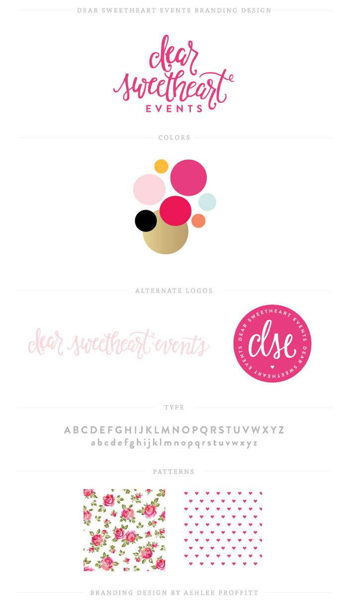 Branding: Dear Sweetheart Events Branding Elements! | Branding by Ashlee Proffitt (ashleeproffitt.com)