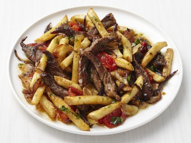 Get Beef Stir-Fry with French Fries Recipe from Food Network