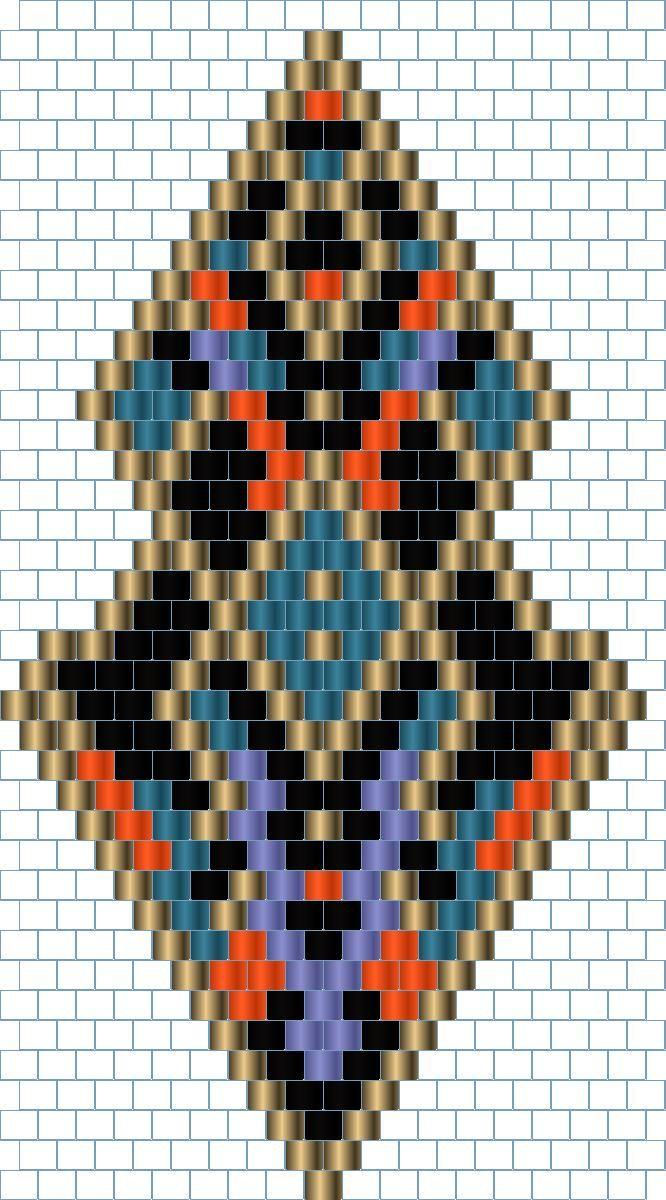 crazywool: Kolczyki brick stitch 1, schemat (earrings brick stitch 1, pattern)