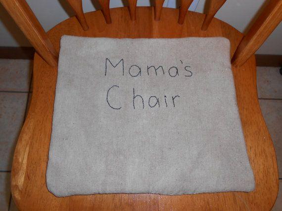 Primitive Chair Pad Primitive Chair Cushion by SuesAkornShop,