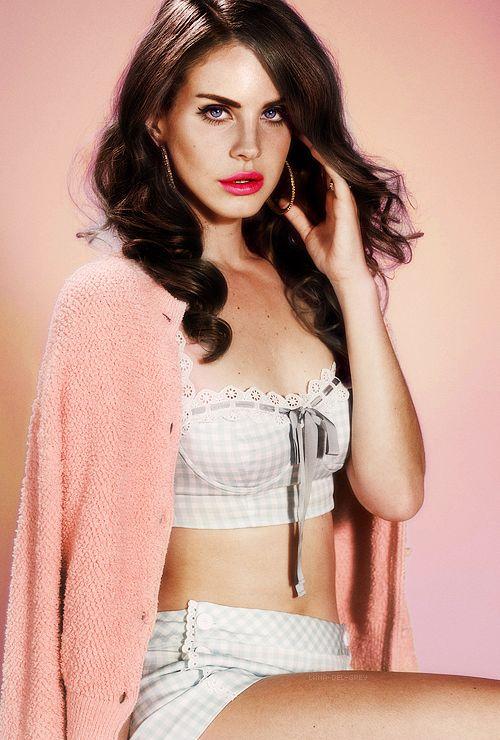 Lana Del Rey Pink angora cardgan fluffy
