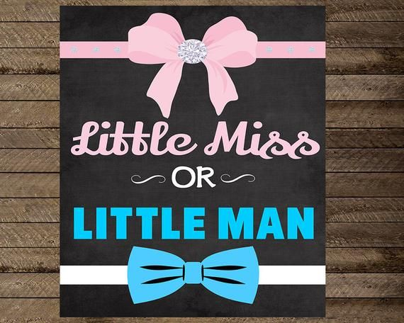 Gender Reveal Sign Gender Reveal Poster Little Miss Or Etsy Baby Reveal Invitations Baby Reveal Party Boy Or Girl Sign
