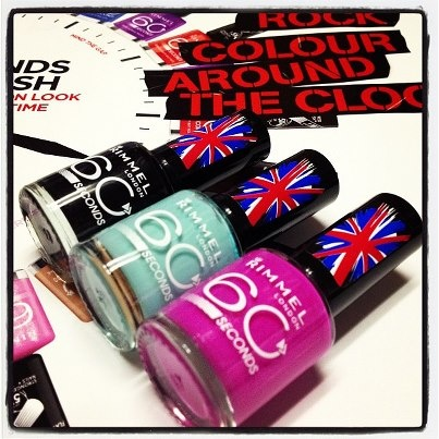 60 seconds nail colour - rimmel london cosmetics
