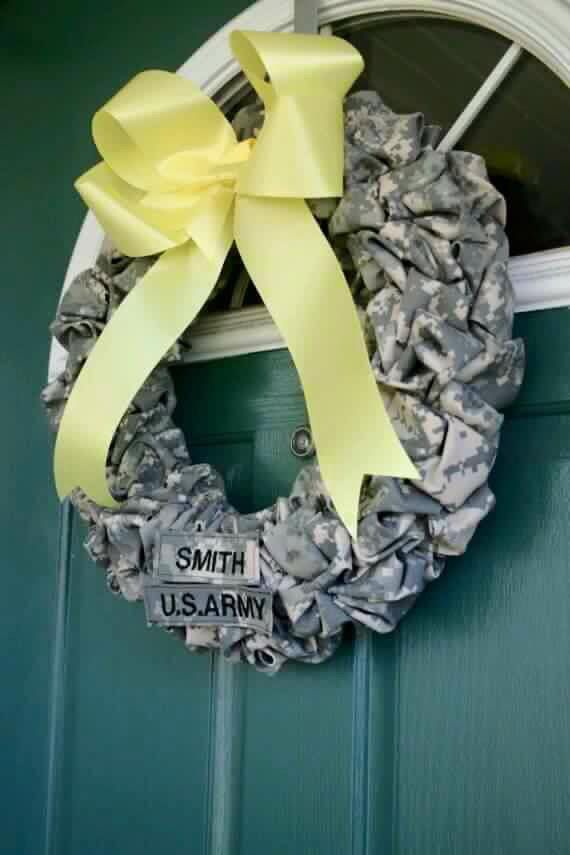 Saw this on Facebook  Army wreath
