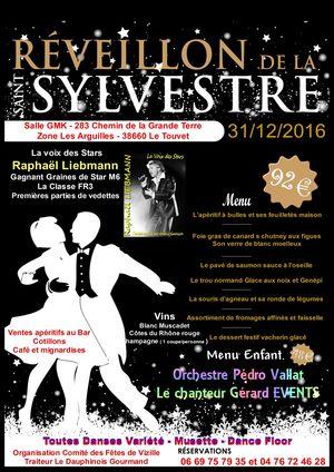 - Réveillon St Sylvestre 2016 @ Salle GMK - Le Touvet, 38660