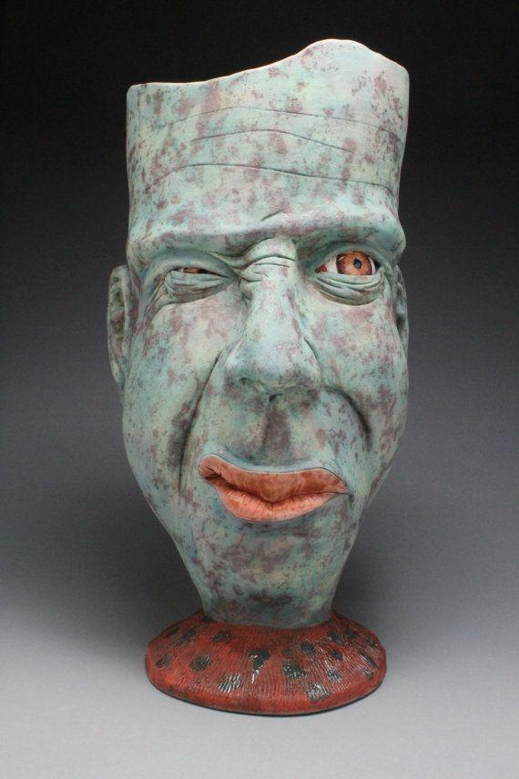 Face Vessel by TravisWintersClay on Etsy