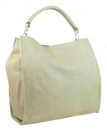Velká taška na rameno New Berry 9010 žluto-béžová - Kliknutím zobrazíte detail obrázku.