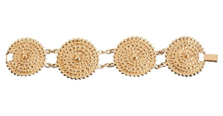 Goldtone Disc Linked Bracelet  So my Avon bracelet is selling for $85? ~C.N