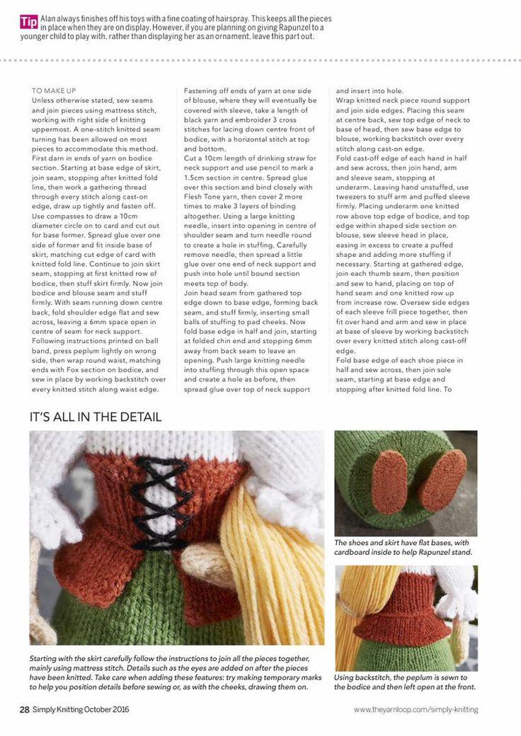 Knitting Toys Magazine : Simply knitting № october 轻描淡写 repunzle